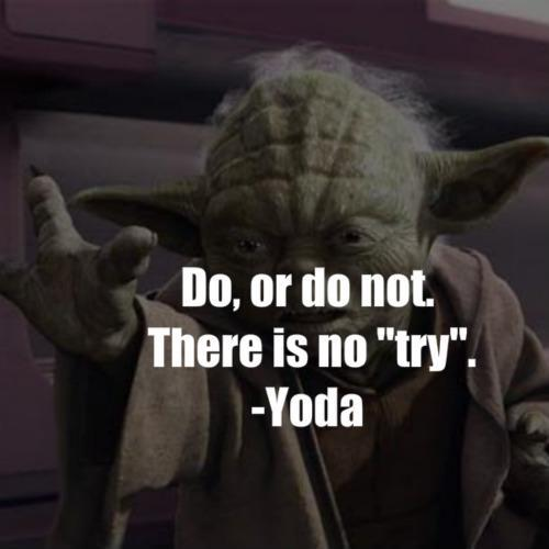 Do, or do not. There is no try Picture Quote #3