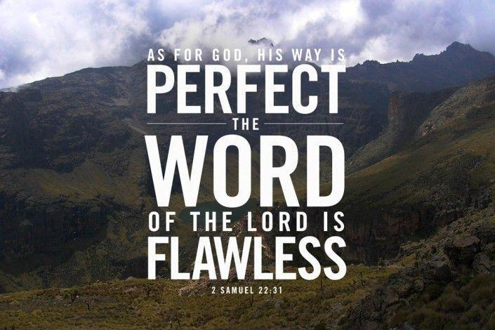 As for God, his way is perfect, the word of the Lord is flawless Picture Quote #1