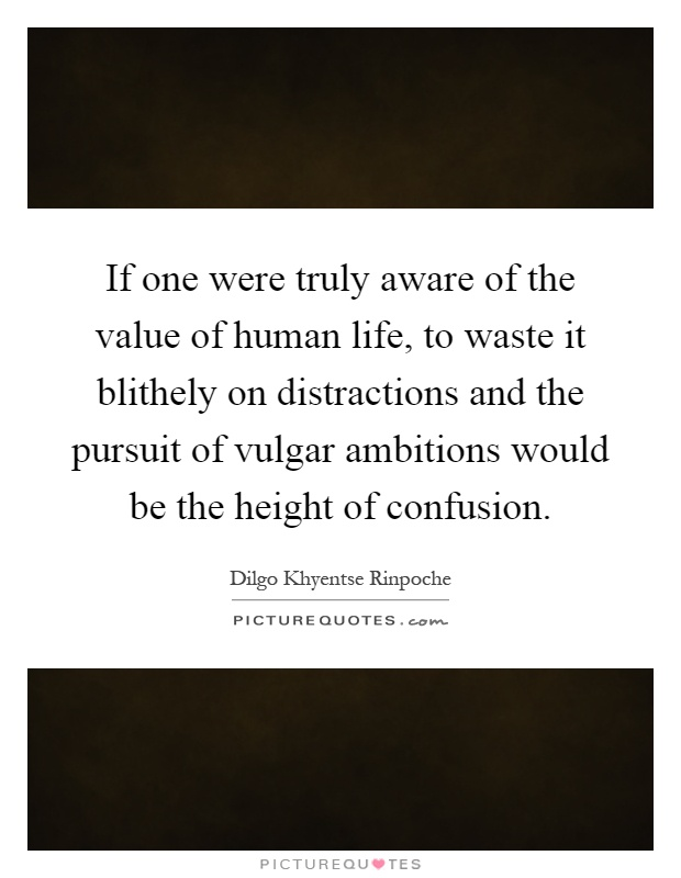 If One Were Truly Aware Of The Value Of Human Life To Waste It Picture Quotes