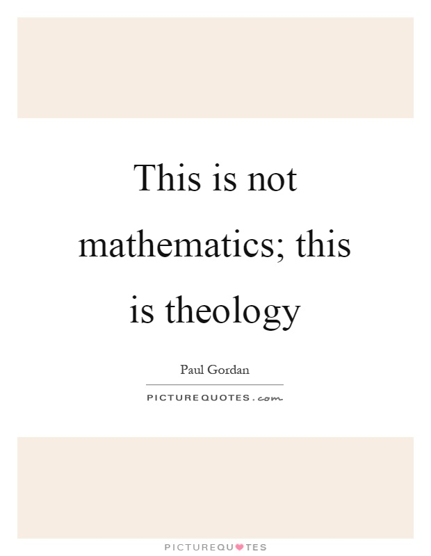 Theology subjects mathematics