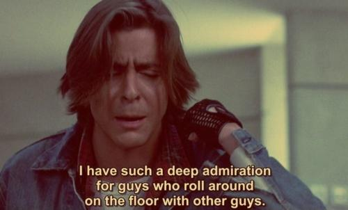 I have such a deep admiration for guys who roll around on the floor with other guys Picture Quote #1
