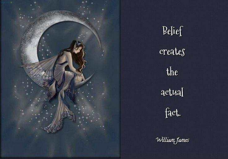 Belief creates the actual fact Picture Quote #1