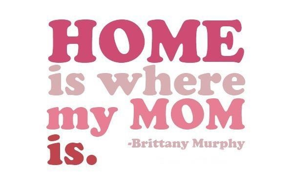 Home is where my mom is Picture Quote #1