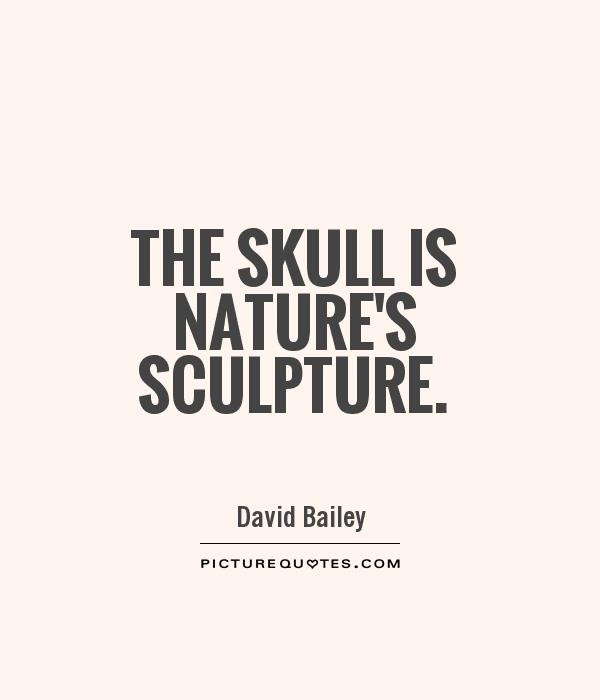 The skull is nature's sculpture Picture Quote #1