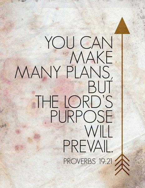 You can make many plans, but the LORD's purpose will prevail Picture Quote #1