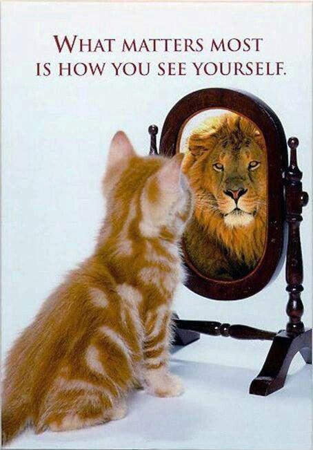 What matters most is how you see yourself. Picture Quote #1
