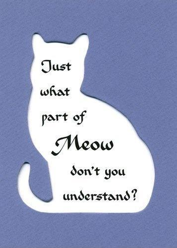Just what part of meow don't you understand Picture Quote #1