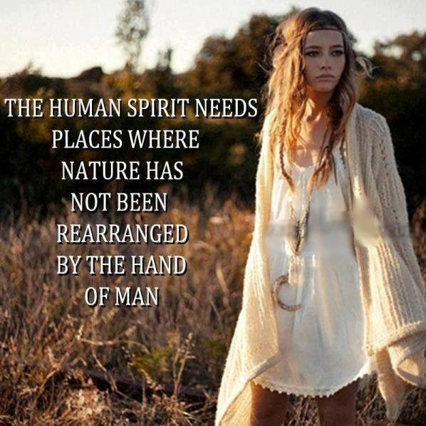 The human spirit needs places where nature has not been rearranged by the hand of man Picture Quote #3