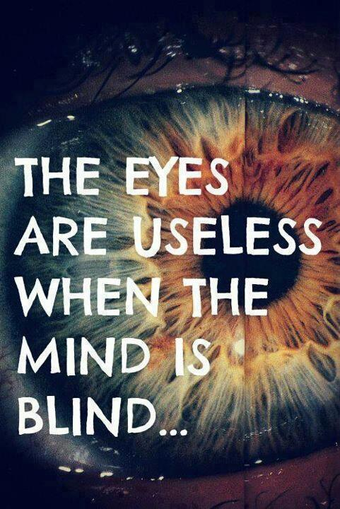 The eyes are useless when the mind is blind Picture Quote #1