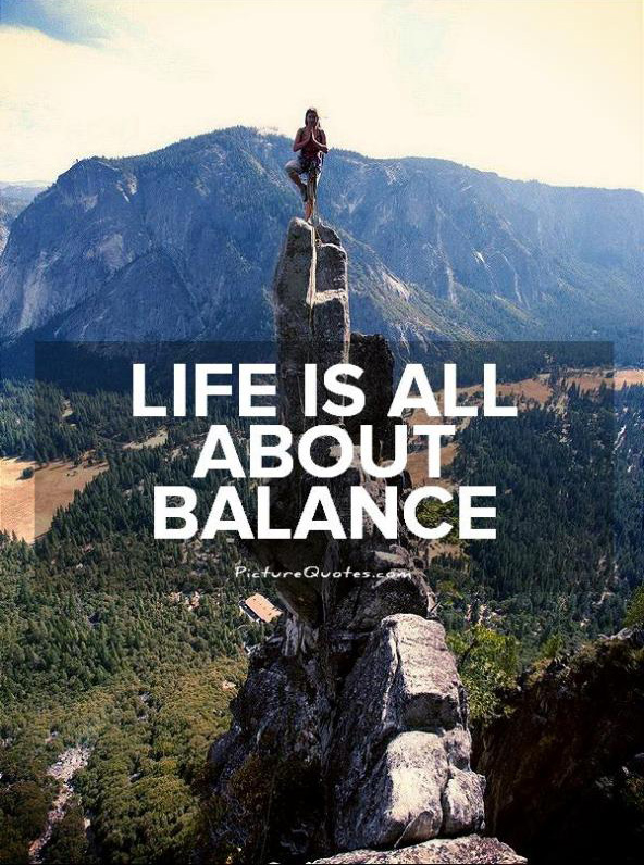 life is all about balance picture quotes