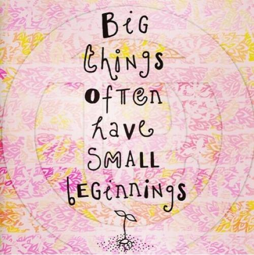Big things often have small beginnings Picture Quote #1