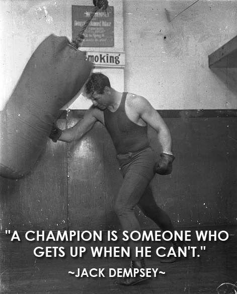 A champion is someone who gets up when he can't Picture Quote #2