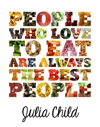 People who love to eat are always the best people Picture Quote #1
