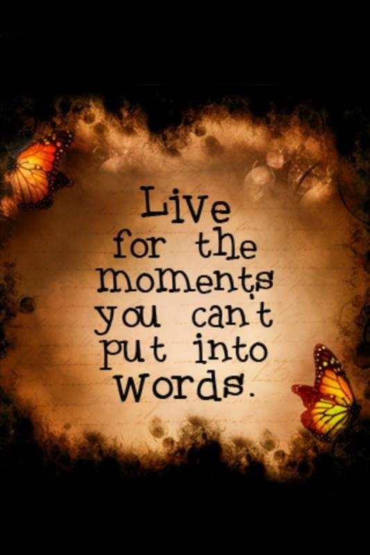Live for the moments you can't put into words Picture Quote #2