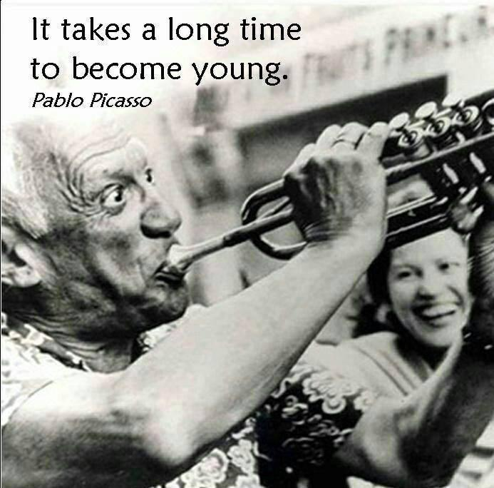 It takes a long time to become young Picture Quote #2