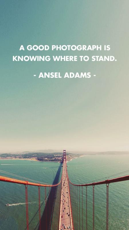 A good photograph is knowing where to stand Picture Quote #2