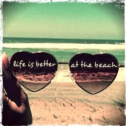 Life is better at the beach Picture Quote #1