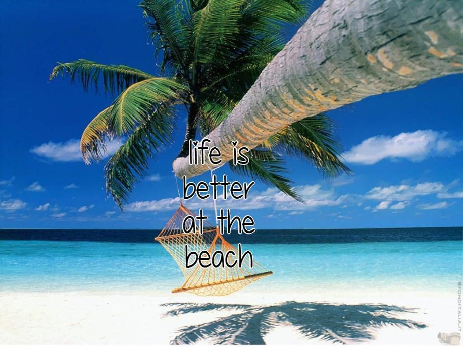 Life is better at the beach Picture Quote #3