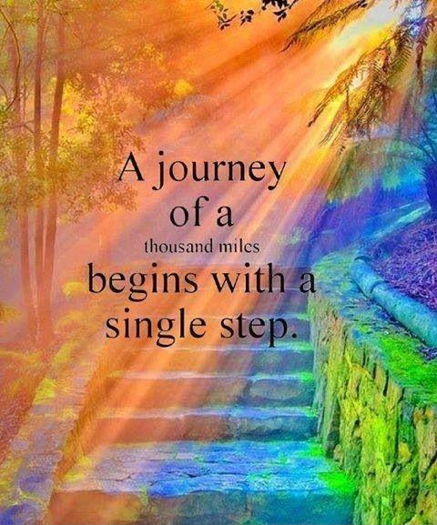 A journey of a thousand miles begins with a single step Picture Quote #2