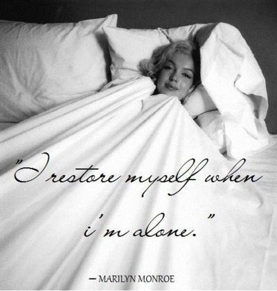 I restore myself when i'm alone Picture Quote #1