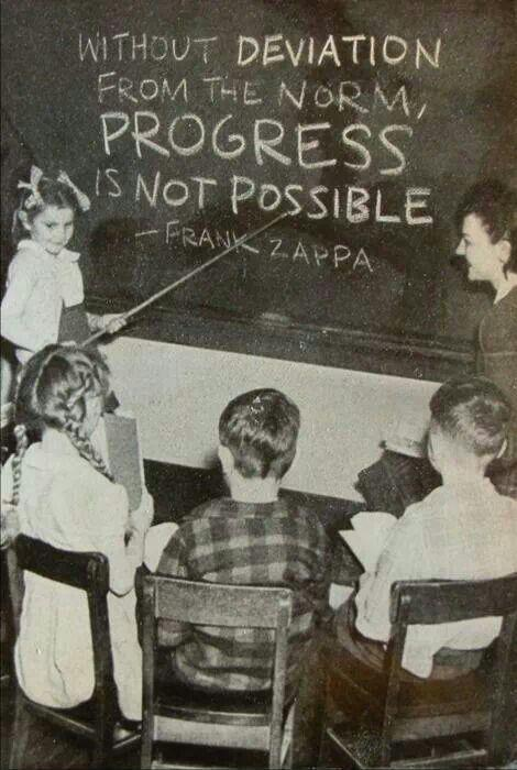 Without deviation from the norm, progress is not possible Picture Quote #1