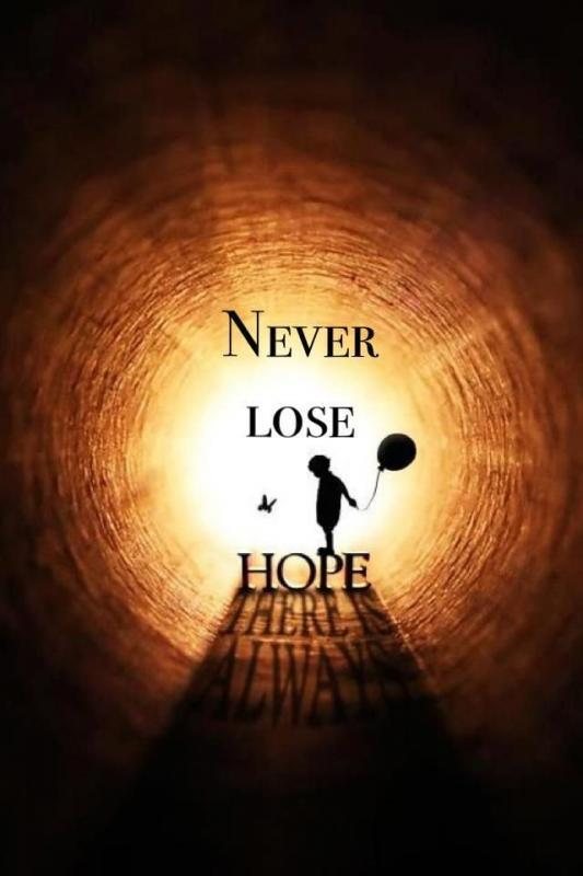 Never lose hope Picture Quote #1