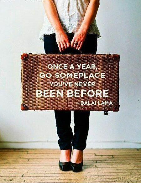 Once a year, go someplace you've never been before Picture Quote #1