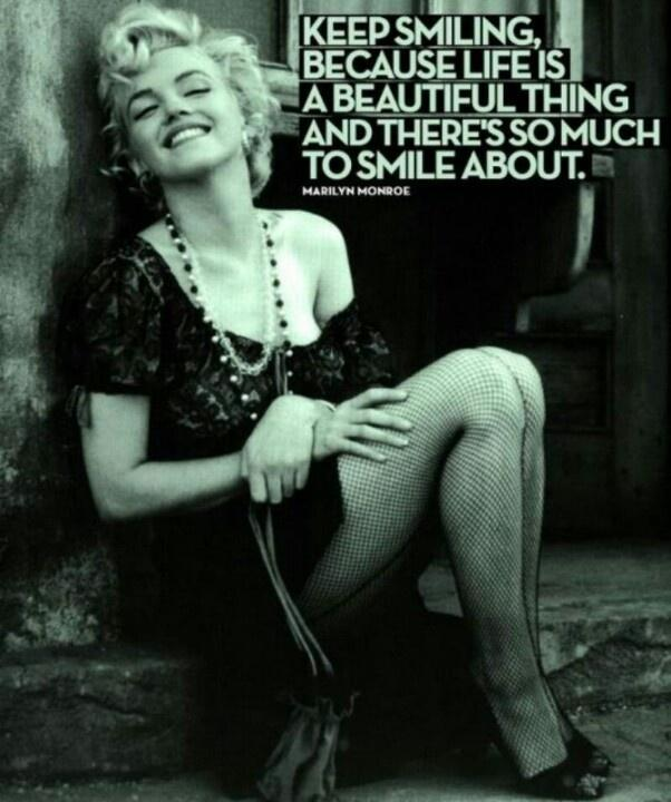 Keep smiling, because life is a beautiful thing and there's so much to smile about Picture Quote #1
