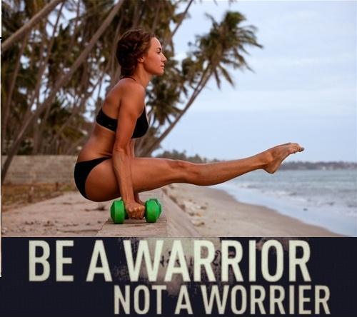 Be a warrior, not a worrier Picture Quote #1