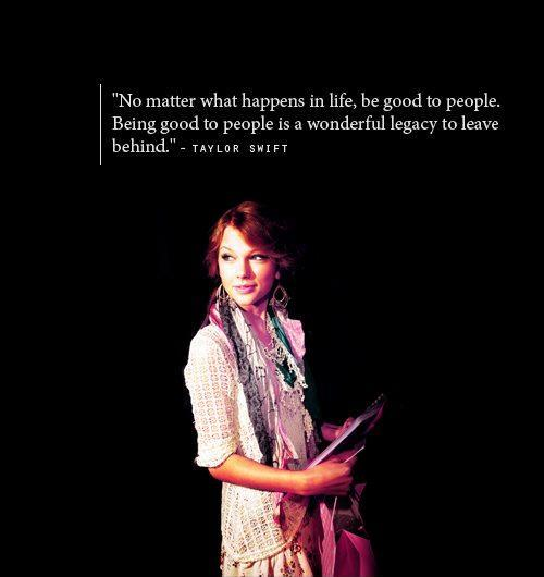 No matter what happens in life, be good to people. Being good to people is a wonderful legacy to leave behind Picture Quote #2