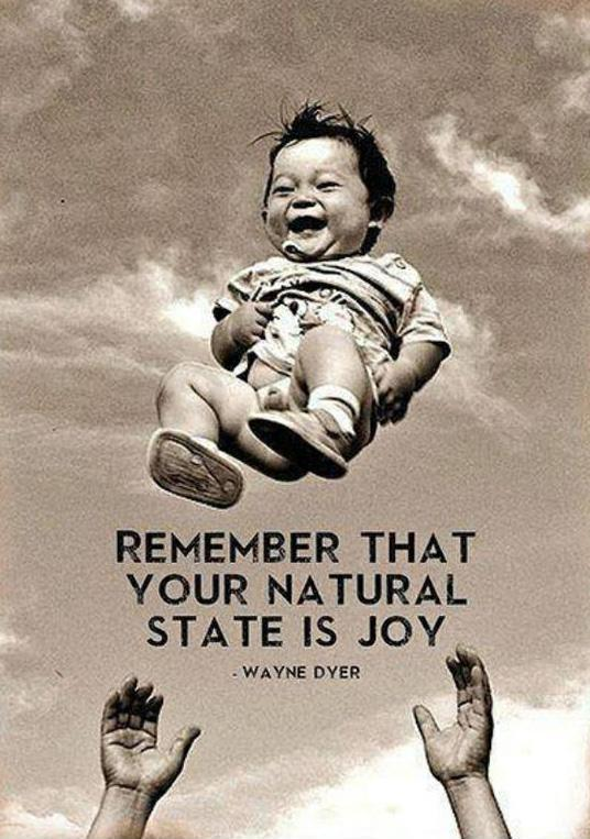 Remember that your natural state is joy Picture Quote #1