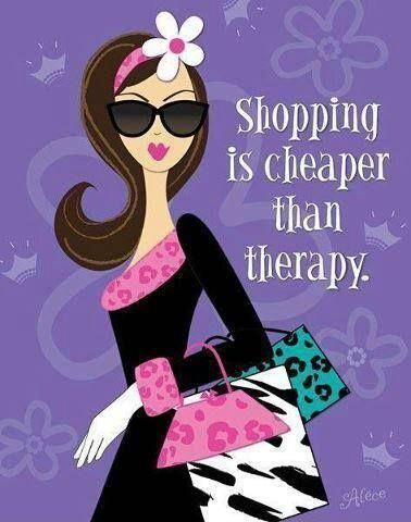 Shopping is cheaper than therapy Picture Quote #1