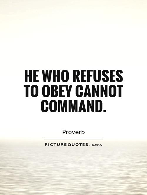 he that cannot obey cannot command J brown adm 464-human resource administration discipline in the workplace he that cannot obey cannot command benjamin franklin discipline is a tool used.