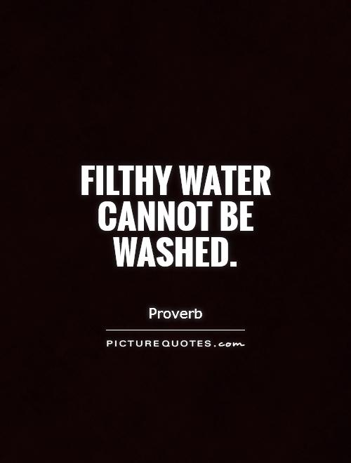 Filthy water cannot be washed Picture Quote #1
