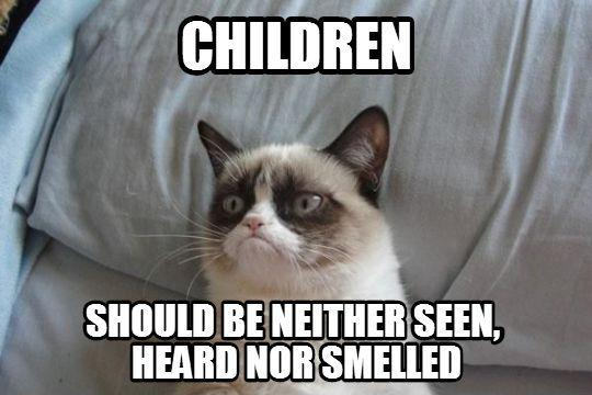 Children should be neither seen, heard or smelled Picture Quote #1