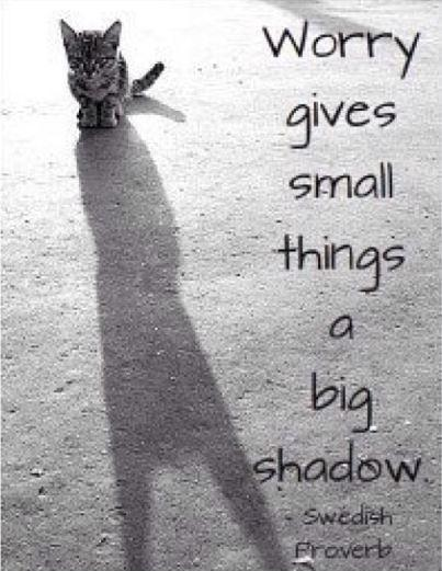 Worry give small things a big shadow Picture Quote #1