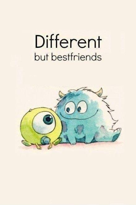 Different but best friends Picture Quote #1
