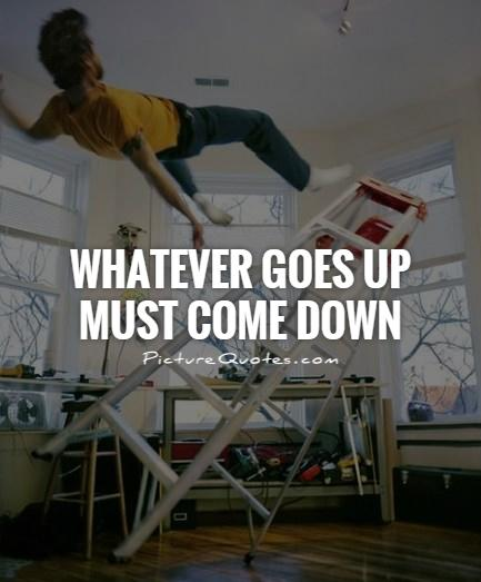 Whatever goes up must come down Picture Quote #1