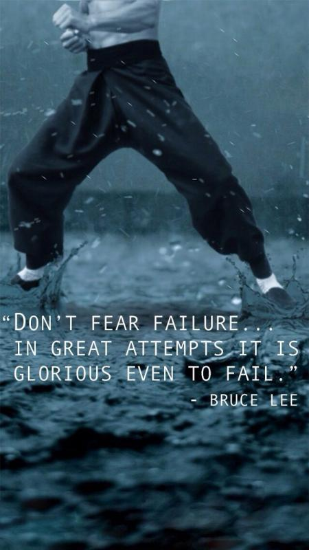 Don't fear failure. In great attempts it is glorious even to fail Picture Quote #1