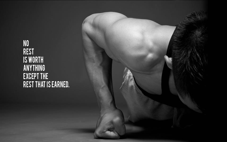 No rest is worth anything except the rest that is earned Picture Quote #1