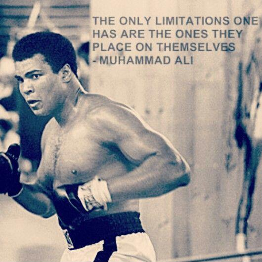 The only limitations one has are the ones they place on themselves Picture Quote #1