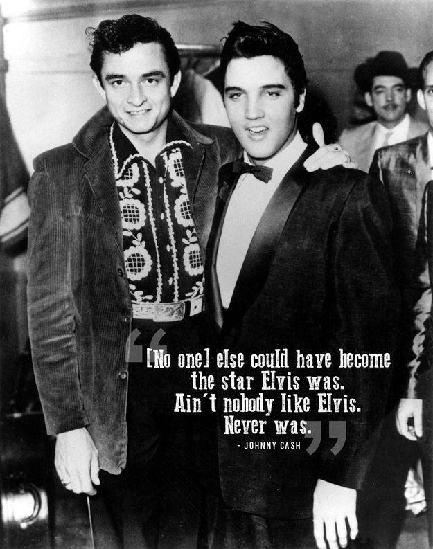 No one else could have become the star Elvis was. Ain't nobody like Elvis. Never was Picture Quote #1