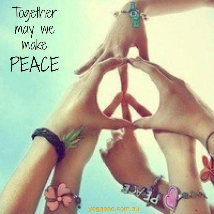 Together we may make peace Picture Quote #1