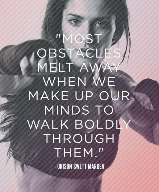 Most obstacles melt away when we make up our minds to walk boldly through them Picture Quote #1
