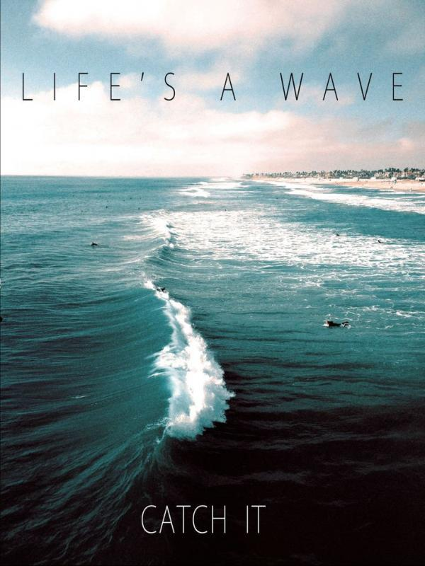 Life's a wave, catch it Picture Quote #1