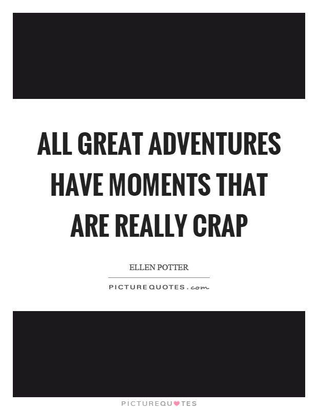 All great adventures have moments that are really crap Picture Quote #1