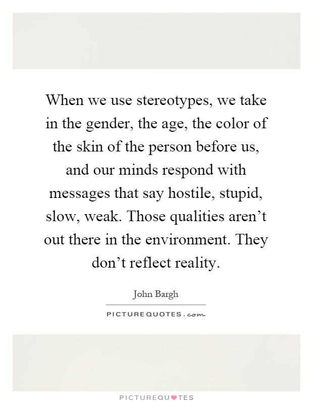 Gender Stereotypes Quotes