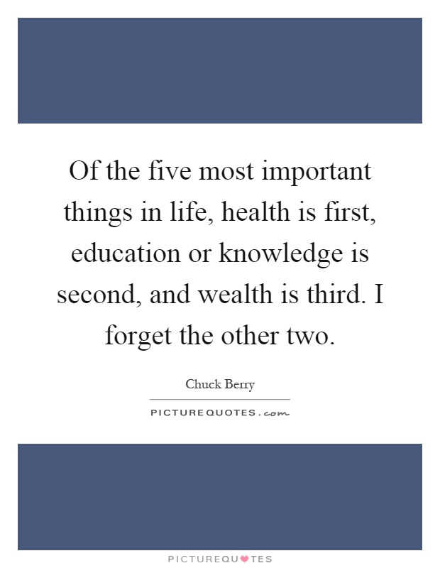 the five most important things you