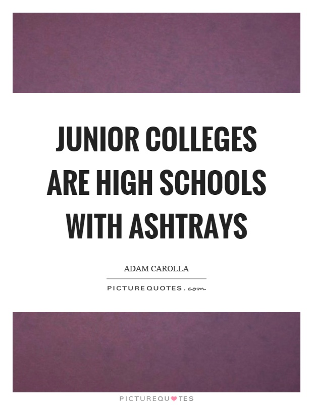 Junior colleges are high schools with ashtrays Picture Quote #1