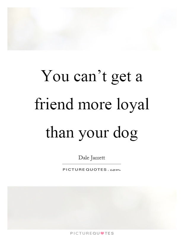 You can't get a friend more loyal than your dog Picture Quote #1